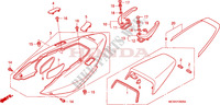 CAPOT ARRIERE Chassis 800 honda-moto VFR 2006 F__2000