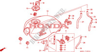 RESERVOIR A CARBURANT pour Honda SEVEN FIFTY 750 de 1999