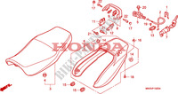 SELLE   CARENAGE ARRIERE pour Honda SEVEN FIFTY 750 de 1999