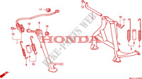 BEQUILLE pour Honda BIG ONE 1000 50HP de 1996