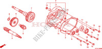 BOITE DE VITESSES pour Honda SH 125 R, REAR DRUM BRAKE, TOP BOX de 2010