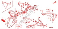 GARDE-BOUE ARRIERE Chassis 600 honda-moto CBR 2009 F_24